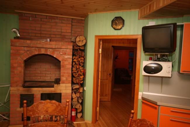 Ремонт кухни в деревенском доме своими руками с печкой 81