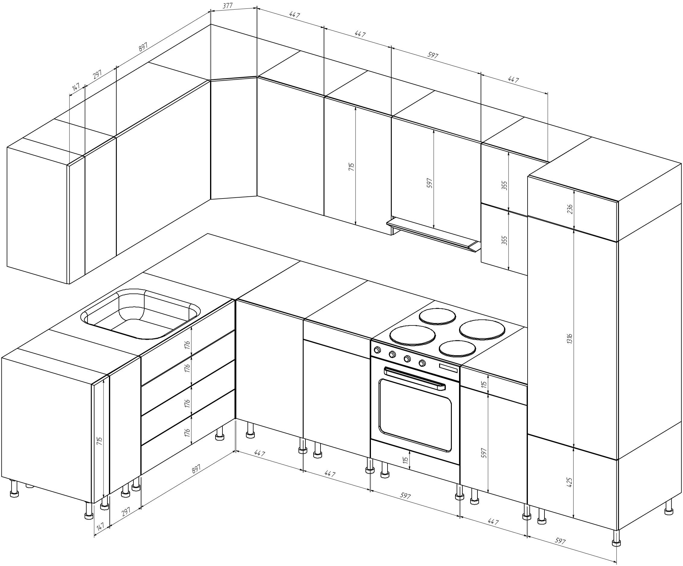 Кухни проекты своими руками 1