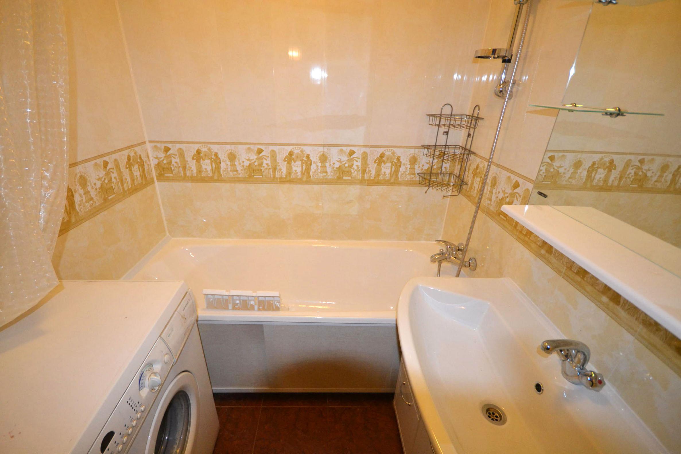 Отделка панелями ванной дизайн 4 кв м