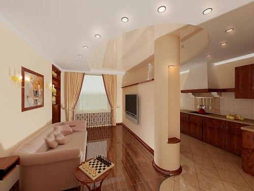 Дизайн интерьера 1 комнатной квартиры 35 кв.м фото