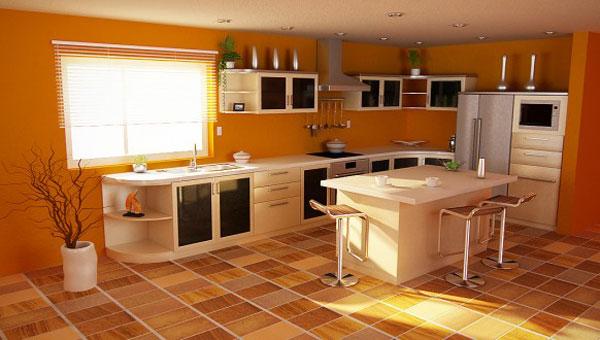 Кухня в теплых тонах  № 889806  скачать