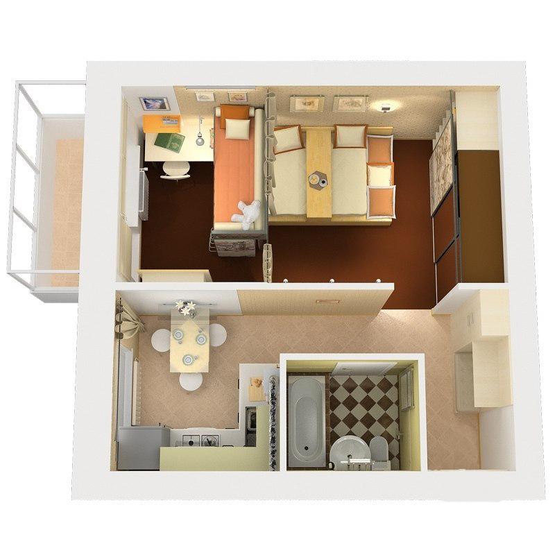 Дизайн хрущевки квартир 30 кв.м