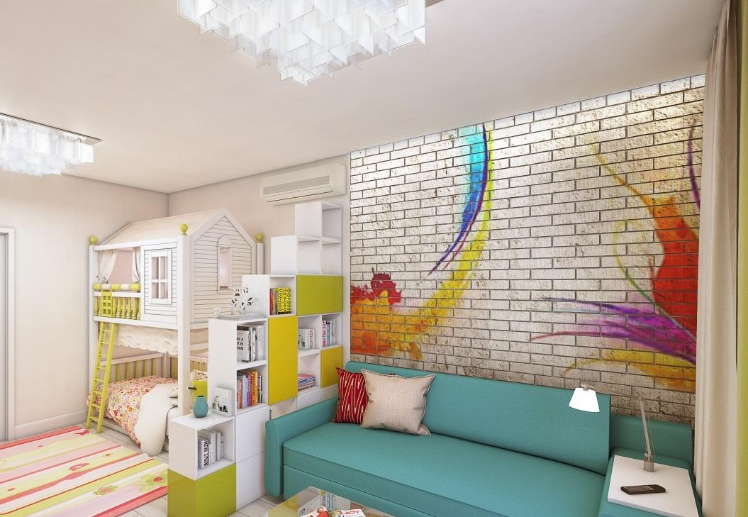 In Einer Einzimmerwohnung Oder Einem Studio Können Sie Eine Zonierung  Vornehmen, Indem Sie Den Raum In Zwei Unabhängige Zonen Aufteilen   Eine  Halle Und Ein ...