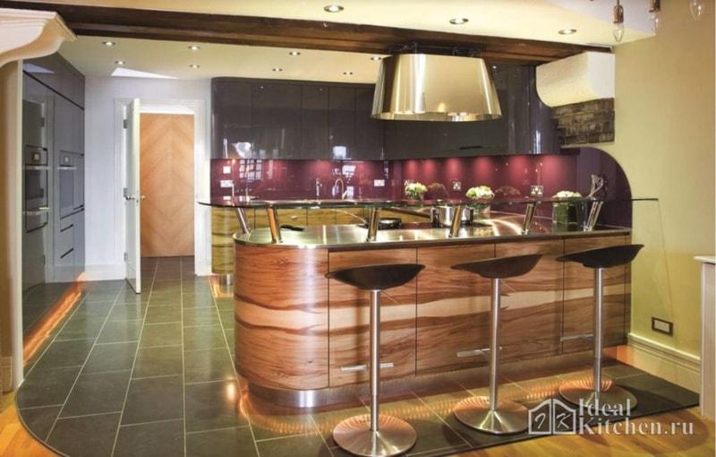 Radiusfassaden für die Küche. Schrittweise Herstellung der Fassade ...