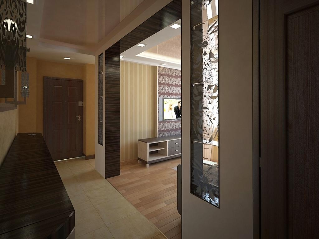 Schrankfach im Panel-Haus. Design des Flurs in der Wohnung im ...