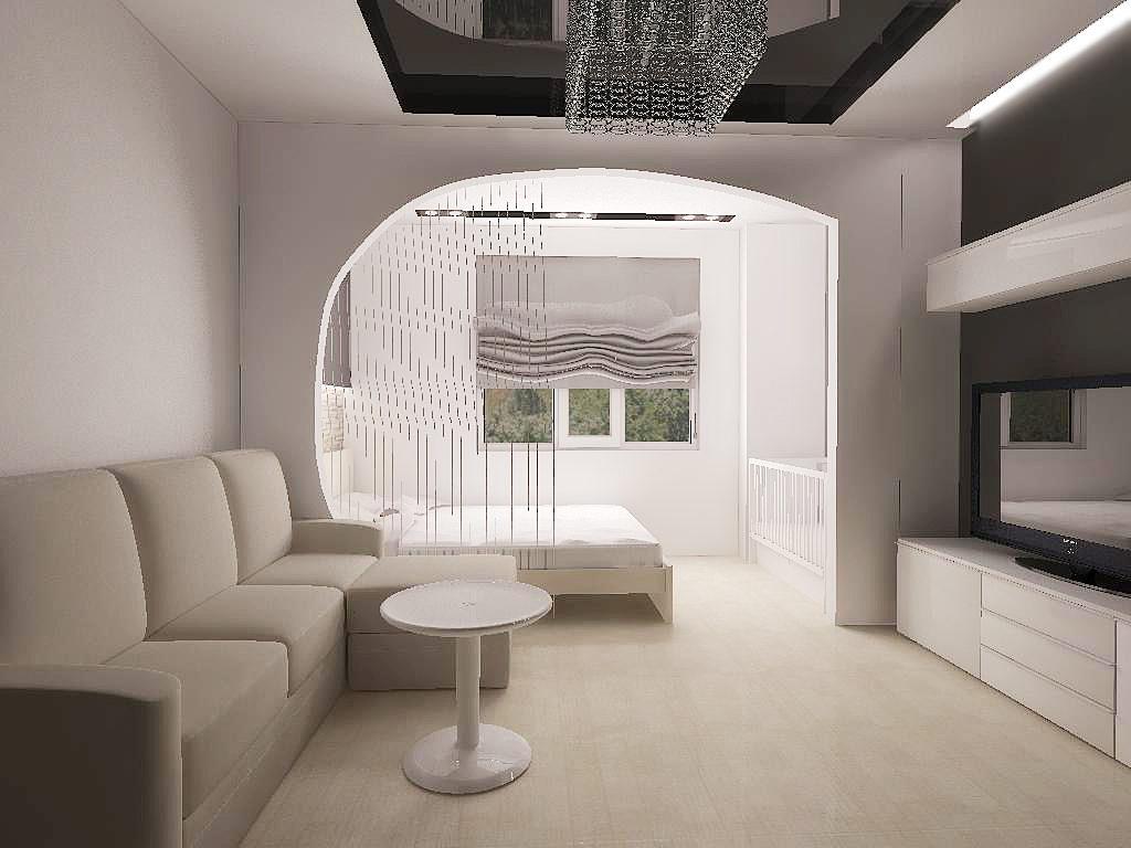 Wohnzimmer 20 qm. Helle Farbskala, helle Akzente. Stil und Hauptakzent