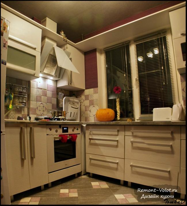 Schemes von Küchenschränken. Die Lage der Küchenecke. Schubladen ...