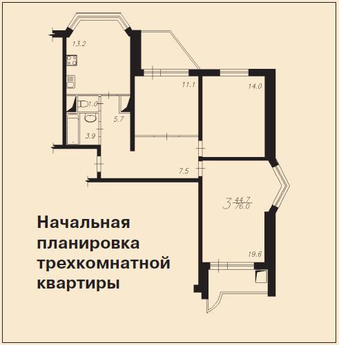 Дом п44т: планировка с размерами.