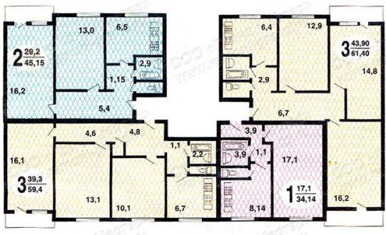 Размеры лифтов в домах 1605 ам 12.