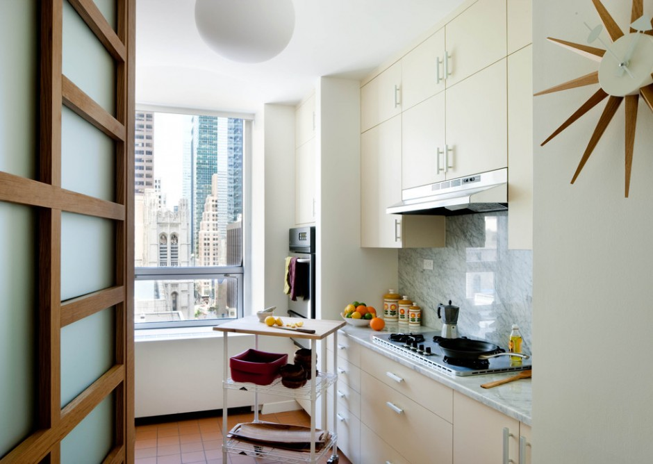 Küchendesign 8 qm mit Balkon